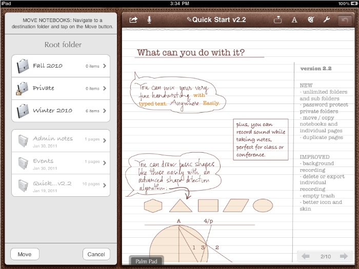 iPad Notes Plus app Screenshot